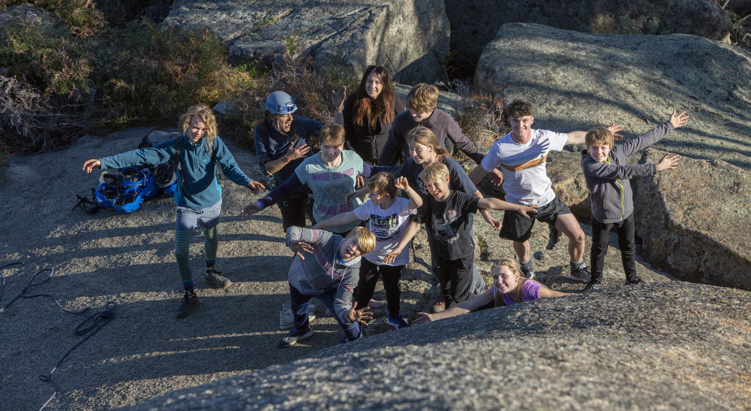 Family rock-climbing day at Mt Macedon, 9th November 2019
